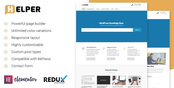 Helper - Knowledge Base / Support WordPress Theme